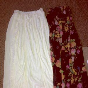Long high waisted skirt & strapless dress